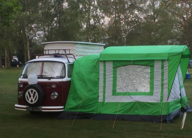 Vw with awning